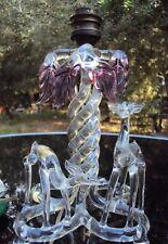 ancien pied de lampe en verre de murano décor de biches début 20 ème