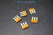 5 PACK ATL 5 AMP FUSES FUSE BLADE DUAL CIRCUIT COOPER BUSSMAN MICRO 3 LEG ATL5