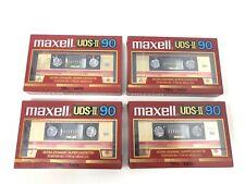 4 Maxell UDS-II 90 Blank Cassette Tape Type II Ultra Dynamic NOS LOT *Read*