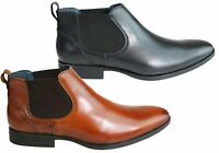 Mens Savelli Winchester Leather Chelsea Dress Boots Made In Brazil - ModeShoesAU