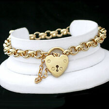 Love & Hearts Chain Yellow Gold Filled 14k Fashion Bracelets