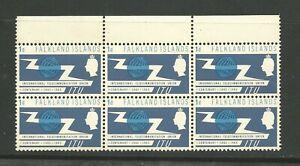 FALKLAND ISLANDS U/MINT BLOCK OF 6 Sg219