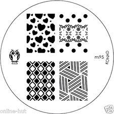 Originale Konad stamping stencil per stamping VERNICE m95
