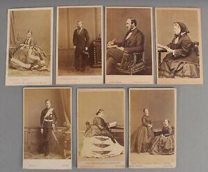 7 Antique 19thC CDV Photographs, British English Royalty, Princess & Prince NR
