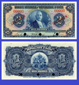 Haiti 2 gourde 1920 UNC - Reproduction