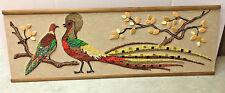 Mid Century Modern Gravel Pebble Art Mosette Craft kit Peacocks birds