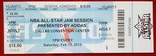 2010 NBA ALL-STAR JAM SESSION TICKET Dallas Convention Center Dallas, TX 2/13/10