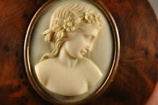 TABATIERE ANCIENNE ANTIQUE CARVED CAMEO SNUFF BOX 19th. c.