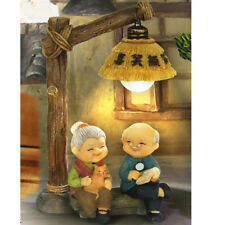 Resin Craft Loving Elderly Couple Figurines Old Age Happy Life Home Ornament