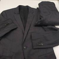 Hugo Boss Huge6 Genius5 Wool 2pc Suit w/ Jacket & Pants Mens Size 36R X 32 Gray