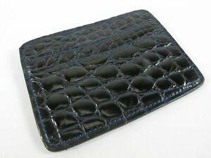 PELGIO Genuine Crocodile Skin Leather Slim Credit Card Holders Wallet Blue New