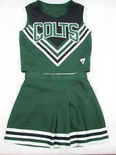 "COLTS Real High School Cheerleader Uniform Outfit Costume Yth L 32"" Top 22 Skit"