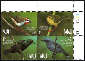 Palau 231-234a Bl/4, MNH. Birds of the Forest, 1990