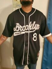 Headgear Brooklyn Royal Giants #8 Official NLBM Black Baseball Jersey XXL 2XL