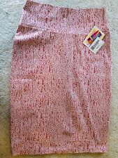 *NEW* LuLaRoe Cassie Pencil Skirt Pink/Cream Textured Lace Print Size S