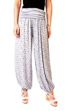 Eyf Ladies Harem Pants Baggy Trousers Hippie Style Summer Anchor Light Grey
