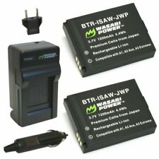 Wasabi Power Battery (2-Pack) and Charger for ISAW-REP-03 and ISAW A1, A2 ACE,