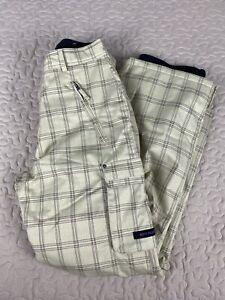 Body Glove Snowbord Ski Pants Winter Mens Sz M Brown Checkered Tan Khaki