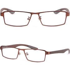 Brown Light Men Titanium Frame Plastic Arm Prescription Eye Glasses Photochromic