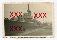 Z1 LEBERECHT MAASS an der Pier in SWINEMÜNDE - orig. Foto, 1937