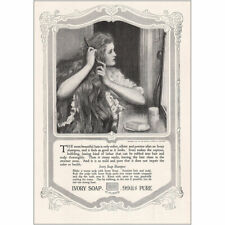 1918 Ivory Soap: Most Beautiful Hair Vintage Print Ad