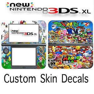 Custom Super Mario Skin Decal Sticker Cover For New Nintendo 3DS XL Free Ship