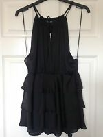 Topshop Black Top, Size 12, New With Tags
