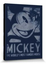 Micky Maus - Walt Disney Film Poster Leinwand-Druck Bild (80x60cm) #115456