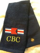 Free personalizing Golf towel  New Embroidered Nautical Flags UNIQUE!