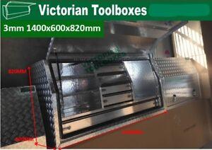 Aluminium Toolboxes Heavy Duty Full Door  Ute Truck  with 5 Drawers 140x60x82cm