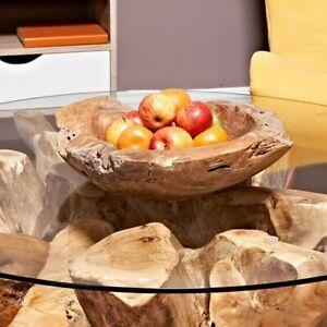Teak Fruit Bowl reclaimed teak 40 cm solid teak root bowl home decor