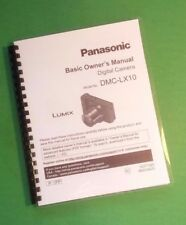 Laser 8.5X11 Panasonic Dmc-Lx10 Basic Camera 72 Page Owners Manual Guide