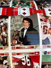 Canadian Football 1992 AW Sports Inc Lot Of 2 Un-Cut Sheets Of Cards Doug Flutie