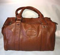TERZETTO Lareto Brown Pebble Leather Doctors Bag Handbag Purse