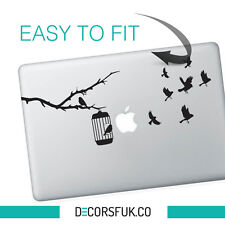 FLYING BIRDS MacBook ADESIVI NERO VINILE | Laptop ADESIVI | Decalcomania MacBook