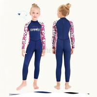 2.5mm Anti UV Full Length Wetsuit Junior Long Wet Suit Kids Surf Girl Swim
