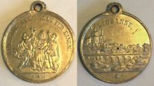 Rare Swiss 1876 Shooting Medal Vaud Lausanne R-1658a M-931 Switzerland