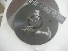 picture disc johnny hallyday de l amour  collector edition limite