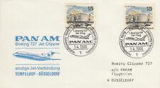 (14309) Germany Pan Am Cover Berlin Tempelhof - Dusseldorf 1 April 1966