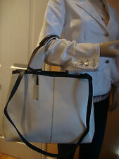 INNUE BEIGE LEATHER WOMEN'S LARGE SHOULDER AND HANDBAG MADE IN ITALY