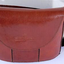 """New Line Ladies 8""""  Brown Leather Shoulderbag"""