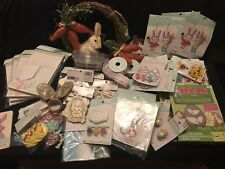 Large Easter Assortment Arts and Crafts Plus Other Items New