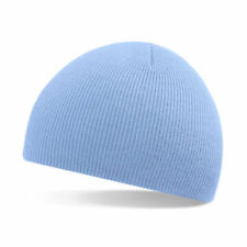 Unisex Cielo Blu morbida al tatto Cappello Beanie-inverno, autunno, caldo, neve, pioggia, ghiaccio