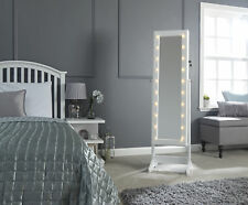 Amore White Mirrored Amoire with Led Lights - Jewellery Storage