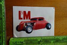Alter Aufkleber Tabak Zigaretten Oldtimer L&M (D)
