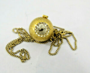 Vintage RARE Buler 17 Jewels Rare Swiss Made Pendant Watch