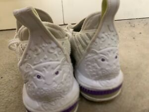 Nike Lebron 15s size 12 white with purple and green