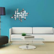 Stickers Muraux Miroir Autocollant Murale Motif Rectangle pour DIY Chambre Salon
