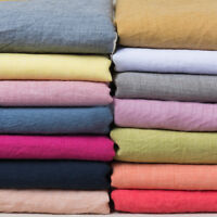Linen Cotton Plain Soft Washed Blended Fabric Upholstery Curtains 140cm Wide