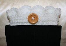 White Handmade Crochet Boot Cuffs Boot Toppers Leg Warmers